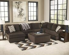 "Ashley ""Jessa Place"" Chocolate Sectional Furniture 39804"