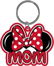 Disney Mom Bow Minnie Mouse Ears Fan Lasercut Laser Keychain Keyring