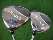 NEW LH WOMENS CALLAWAY SOLAIRE BLUE 11* DRIVER + FAIRWAY 5 WOOD 5W  WOMENS FLEX