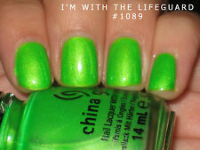 China Glaze Nail Polish - I'm With the Lifeguard 14ml - Summer Neons Collection