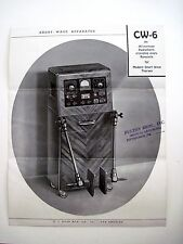 "1930's ""Short Wave Apparatus"" Pamphlet - Medical Quackery Device *"