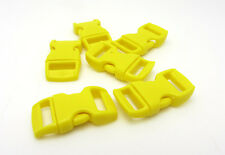 "10pcs 3/8"" Curved Side Release Plastic Buckle  for Paracord Bracelet Yellow QW-5"