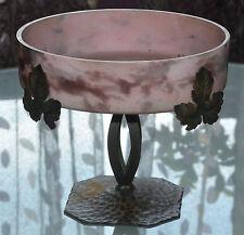 Grande coupe en pâte de verre Art déco signé Lorrain (DAUM)