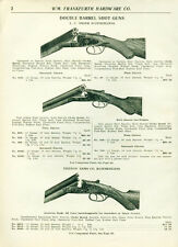 Catalog Page Ad Shot Guns Double Barrel L.C. Smith Vernon Arms Hammerless 1918
