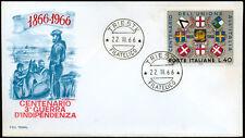 REP. IT. 1966 BUSTA (figura A) F.D.C. 1°GIORNO ANNESSIONE VENETO