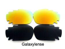 Galaxy Lentes De Repuesto Para Oakley Jawbone negro y dorado Polarizados 2 pares