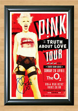 P!NK The Truth About Love Tour Signed Autographed A4 Photo Print Poster Pink CD