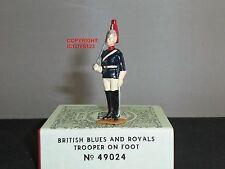 Britains 49024 Blues + monarcas pie Trooper ceremonial Metal Figura Soldado De Juguete