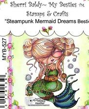 NEW My-Besties Clear cling Rubber Stamp steampunk MERMAID DREAMS free usa ship