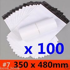 100x 350x480mm Plastic Satchel Courier Poly Mailer Self Sealing Mailing Post Bag