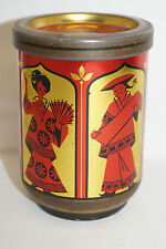 Meßmer runde Blech Teedose rot gold Asiatische Motive