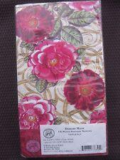 Paper Hostess Napkins Damask Rose Floral Guest Towels