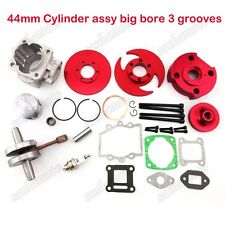 Red Big Bore Kit 44mm Cylinder 2 Stroke 47cc 49cc Pocket Dirt Bike Minimoto ATV