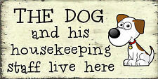 A Home Dog His / Her - Shabby Chic  Wall Plaque / Door Hanging Sign Gift