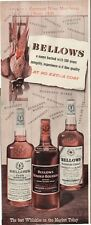 1951 Bellows Whiskey PRINT AD features bottles  phesant