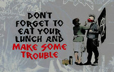 """Banksy Quote 2 Large  A1 30"""" x 20"""" Canvas Print"""