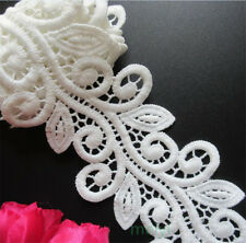1 yd Vintage Micro Fiber Lace Edge Trim Ribbon Wedding Applique DIY Sewing Craft
