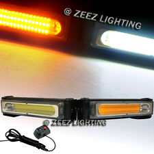 COB LED 20W Amber&White Emergency Hazard Strobe Beacon Caution Warn Light Bar#07