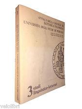 Annali della Facoltà di Lettere e Filosofia XVI 1978/1979 XVII 1979/1980