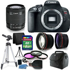 Canon Rebel EOS T5i /700d 3Lens Kit EF-S 18-55 IS STM and Accessories