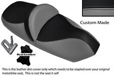 GREY AND BLACK CUSTOM FITS PIAGGIO X9 125 250 500 DUAL LEATHER SEAT COVER