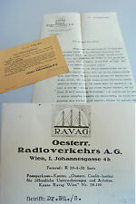 Brief & Karte WIEN 1929/30: RAVAG (Radioverkehrs AG) an RICHARD KAAN. - Radio