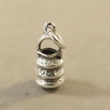.925 Sterling Silver 3-D LANTERN CHARM NEW Pendant Asian Chinese Paper 925 TR159