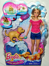 Barbie Splish Splash Pup Doll Figure Set MIB Mattel Toy #DGY83 Puppy Dog