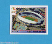 KOREA/JAPAN 2002-PANINI-Figurina n.21- OSAKA NAGAI STADIUM -NEW BLACK BACK