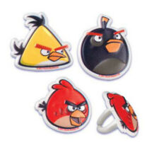 Angry Birds cupcake rings (24) party favor cake topper 2 dozen