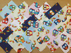 COTTON FABRIC PATCHWORK SQUARES PIECES CHARM PACK 2, 4 & 5 INCH ~ OWLS