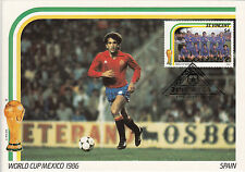 (33305) Football World Cup Double Size Postcard Spain / Mexico 1986