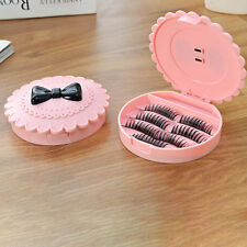 False Make Up Cosmetic Eyelashes Storage Case Bow Makeup Plastic Box Home Tools