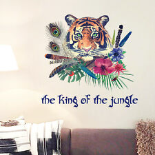 Tiger Wall Art Sticker / Jungle Animal Head Decals Home Decor Mural Lion Safari