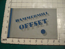 original Will Gerth HAND MADE brochure: HAMMERMILL OFFSET just the cover