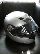 Scorpion EXO-400 Solid Silver Helmet + MOTO Gloves Included