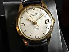 GOLD PLT  20 AU vintage Russian watch WOSTOK 18 jewels serviced & timed CA 1962