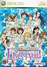 Used Xbox360 The Idolm@ster: Live for You! Japan Import