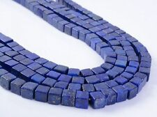 0147 6mm Lapis square cube loose gemstone beads 16""