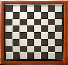 NEW Traditional Wood Timber Framed Chess Board 48cm - Black & and Silver Squares