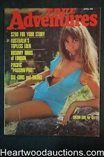 True Adventures Apr 1969 F. Bolivar art, Nude Girl western shootout, Bambi Allen