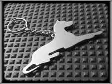 KEYRING DOG - GREAT DANE - STAINLESS STEEL - HAND MADE - CHAIN LOOP KEY FOB