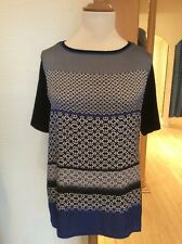 Betty Barclay Top Size 20 BNWT Black Blue Winter White Patterned RRP £40 NOW £19