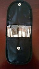 6-Piece Black Travel Mini Makeup Brush Set Case