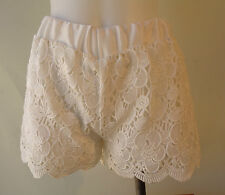 New Whimsical white lace shorts lined NWT size M/L