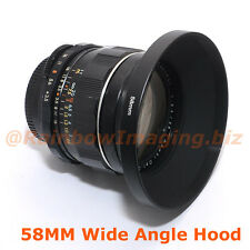"52mm Metal Screw-in Hood for 28mm 35mm Wide Angle Lens """"US Seller"""""
