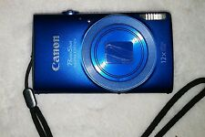 Canon PowerShot ELPH 170 IS 12X Zoom 20MP Digital Camera Blue PC2195 Good 7/10