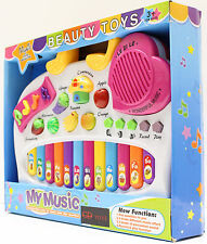 Pink Music Educational Organ 4 Musical Effect Instruments with Recorder Kids Toy