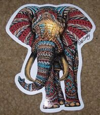 "RIOT SOCIETY Ornate Elephant Bioworkz Skate Sticker 5"" skateboards helmets decal"
