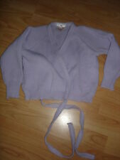 DANCE GEAR GIRLS LILAC WRAP AROUND BALLET DANCE CARDIGAN 7/8YRS